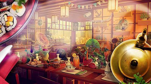 Abenteuer-Spiele Hidden objects restaurants für das Smartphone