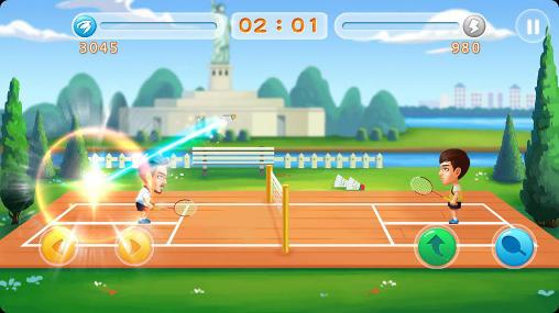 Sportspiele Badminton star 2 für das Smartphone