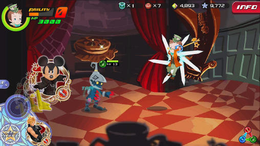 RPG Kingdom hearts: Unchained key for smartphone