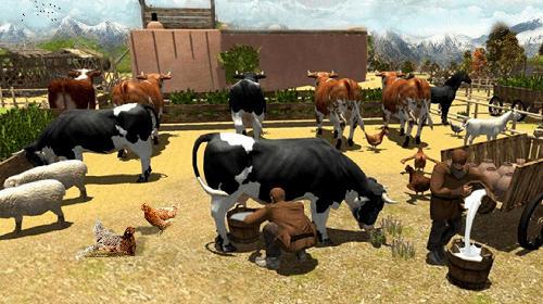 Simulator-Spiele Canada's organic tractor farming simulator 2018 für das Smartphone