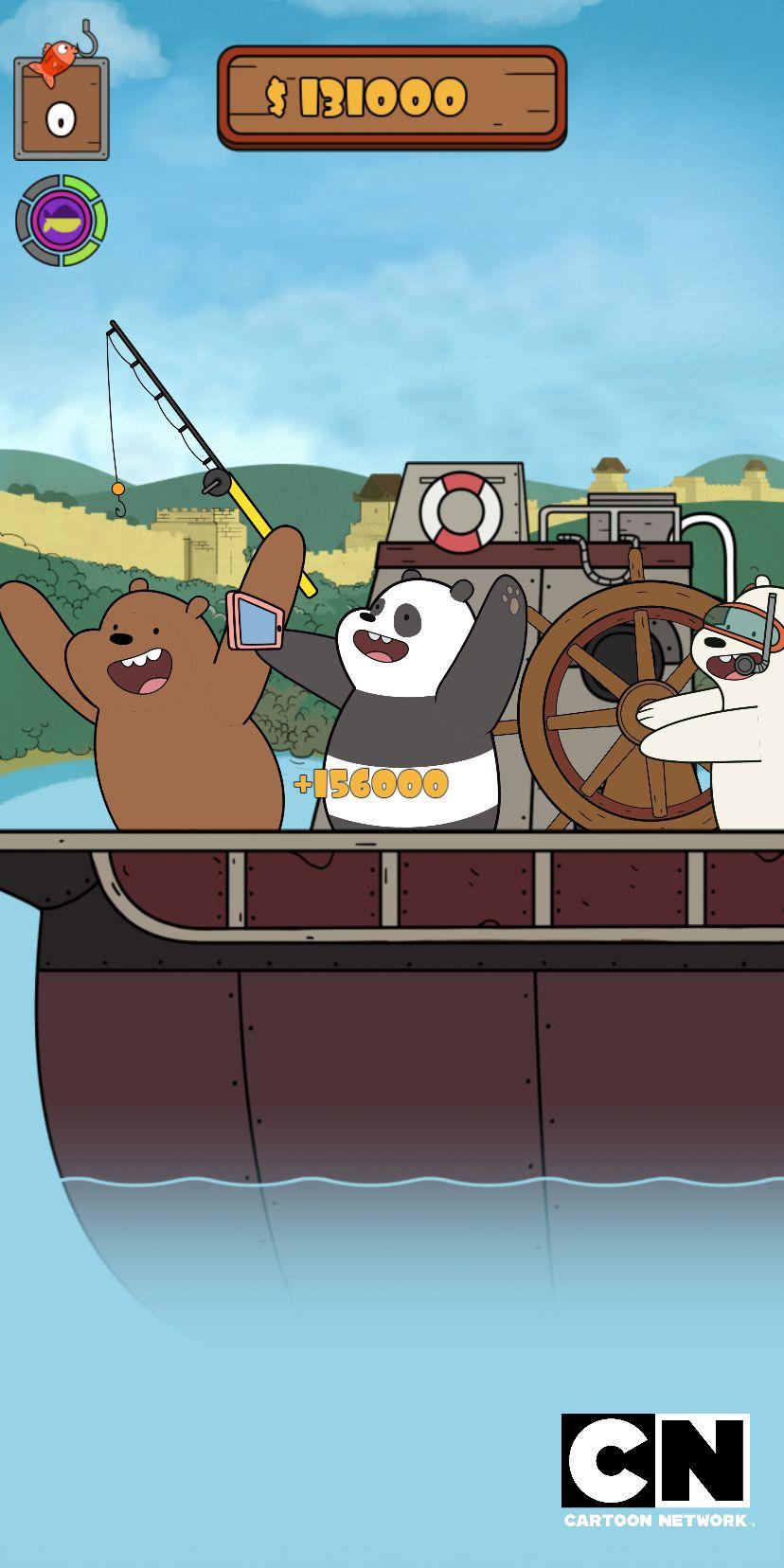 We Bare Bears: Crazy Fishing screenshot 1