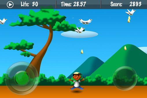 Screenshot Bomber Taube auf dem iPhone