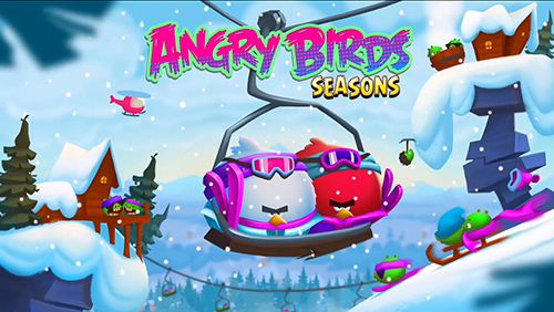 logo Angry birds. Seasons: Ski or squeal
