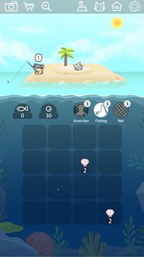 Logik Kitty cat island: 2048 puzzle für das Smartphone