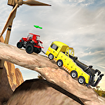 Tractor pulling USA 3D icon