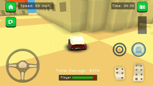 Arcade-Spiele Blocky demolition derby für das Smartphone