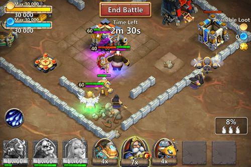 Combat des châteaux pour iPhone gratuitement