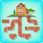 Pipes game: Free puzzle for adults and kids Symbol