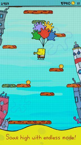 Arcade: Lade Doodle Jump: Spongebob Schwammkopf auf dein Handy herunter