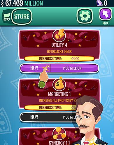 Millionaire to billionaire tycoon: Clicker game für Android