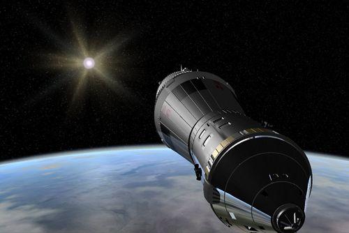 Screenshot Weltraum Simulator auf dem iPhone