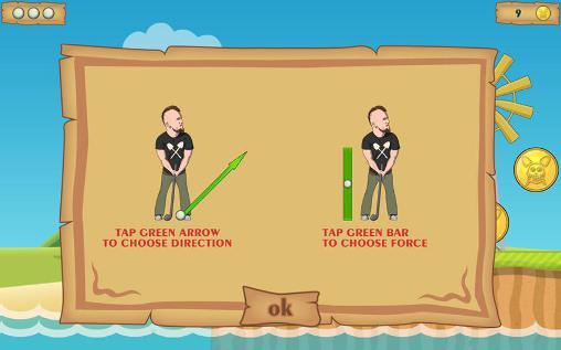 Arcade games Idiotik golf for smartphone