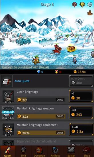 RPG-Spiele Endless frontier für das Smartphone