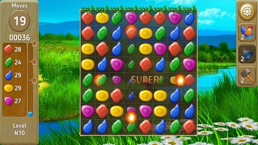 Match 3 games Gems fever in English