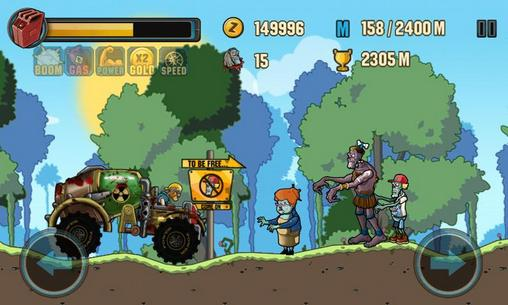 Zombie road racing für Android