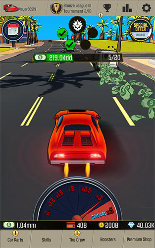 Traffic clicker: Idle racing, blocky car crash 3D für Android