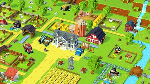 Arcade-Spiele Blocky farm für das Smartphone