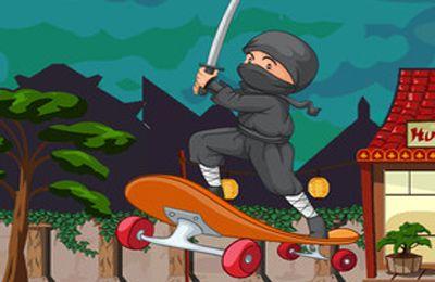 Ninja en patinete