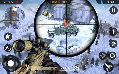 Winter mountain sniper: Modern shooter combat for Android