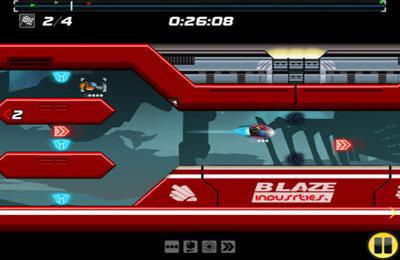 Screenshot Delta-V Rennen auf dem iPhone