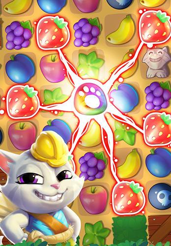 Tropicats: Puzzle paradise captura de pantalla 1