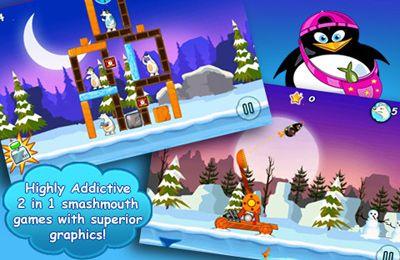 El asalto de los pingüinos locos para iPhone
