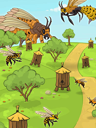 Angry bee evolution: Idle cute clicker tap game for Android