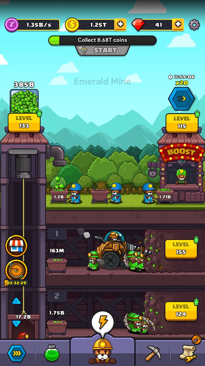 Android用 Popo's Mine - Idle Tycoon Game