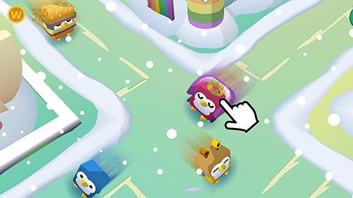 Arcade-Spiele Wobble wobble: Penguins für das Smartphone
