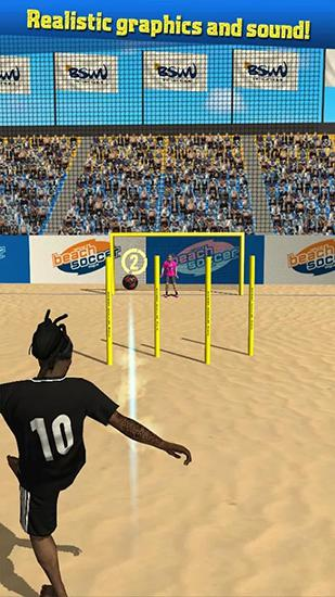 Beach soccer shootout für Android