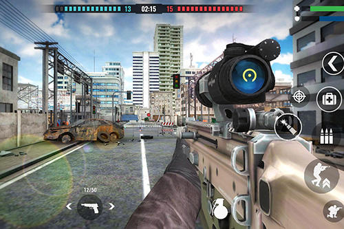 Actionspiele Country war: Battleground survival shooting games für das Smartphone