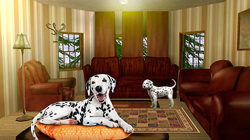 Simulation My dalmatian dog sim: Home pet life für das Smartphone