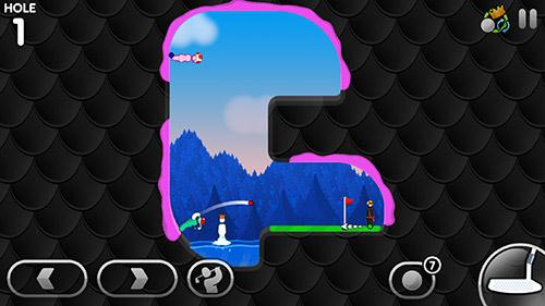 截图Super stickman golf 3在iPhone