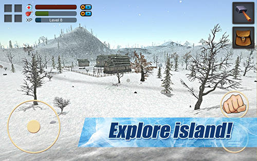 Actionspiele Survival game winter island 3D für das Smartphone