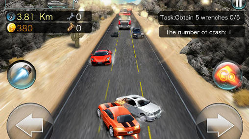 Turbo rush racing captura de tela 1