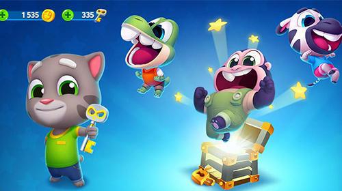 Arcade-Spiele Talking Tom splash force für das Smartphone