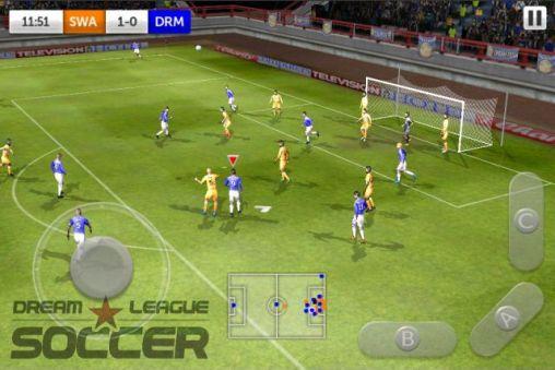 Sportspiele Dream league: Soccer für das Smartphone