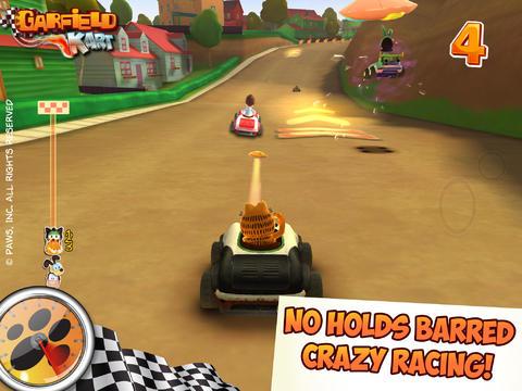 Rennspiele: Lade Garfield Kartrennen auf dein Handy herunter