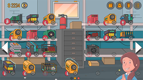 Idle miner simulator: Tap tap bitcoin tycoon in English