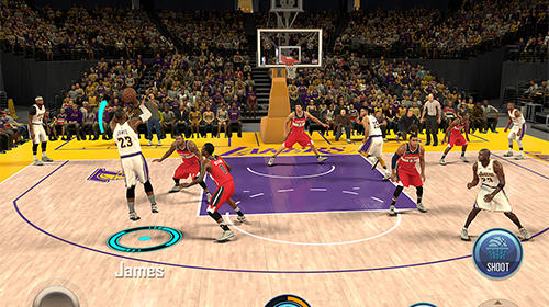 NBA 2K Mobile basketball in English