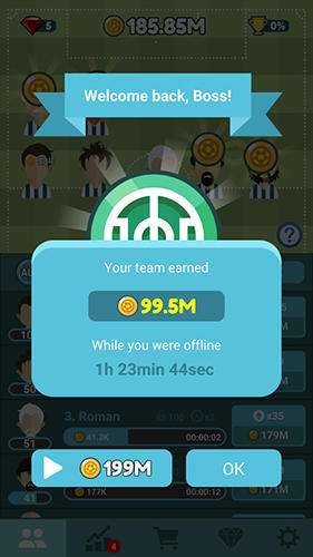 de sport Football manager tycoon pour smartphone