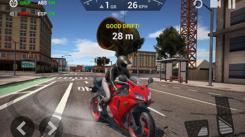 Ultimate motorcycle simulator in English