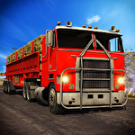 Offroad 18 wheeler truck driving icono