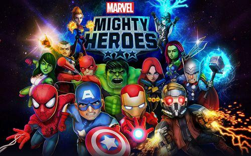 логотип Марвел:Могущественные герои