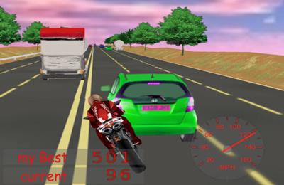 El motorista arriesgado en español
