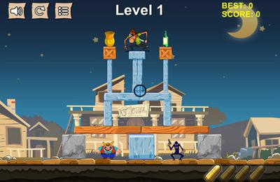 Tour de cowboy Pixel: frapper et détruire la structure