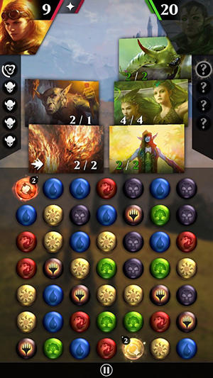 Arcade Magic: The gathering. Puzzle quest für das Smartphone
