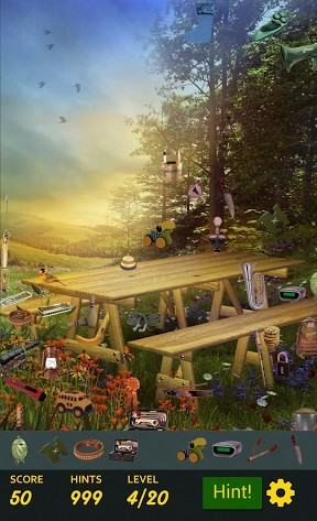 Logik Hidden object: Summer garden für das Smartphone