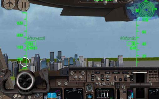 3D Airplane flight simulator auf Deutsch
