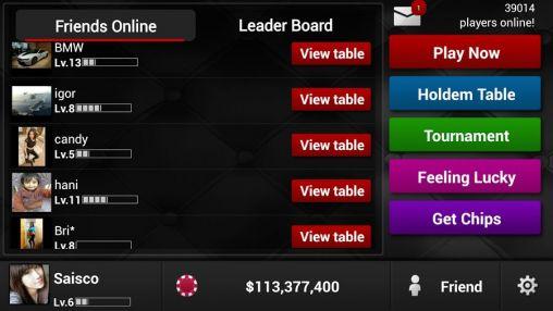 Texas holdem poker: Poker king screenshot 1